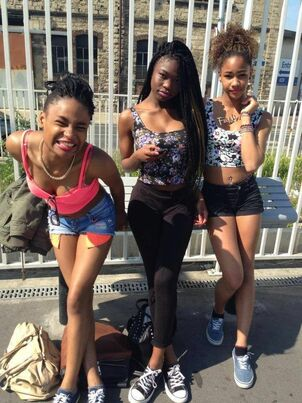 Young thick black teens